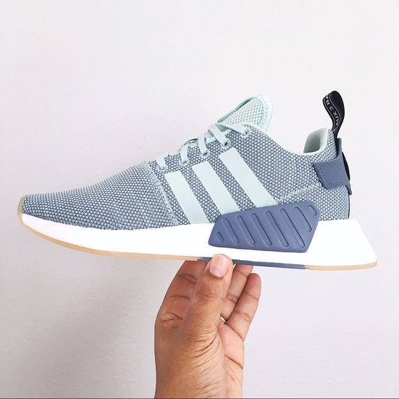 6241a2432c820 Adidas NMD  R2 Ash Green Raw Steel Women s Shoes